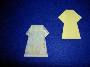 Kleid Geldschein Falten Und Basteln Kleid Geld Falten