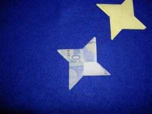 Stern Geldschein Falten Und Basteln Stern Geld Falten