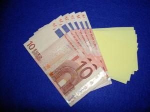 20 euro schein falten