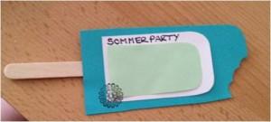 sommerparty einladung basteln - bastelanleitung für eine, Einladung