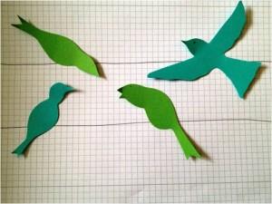 vögel aus papier basteln - bastelanleitung für vögel, Hause und Garten